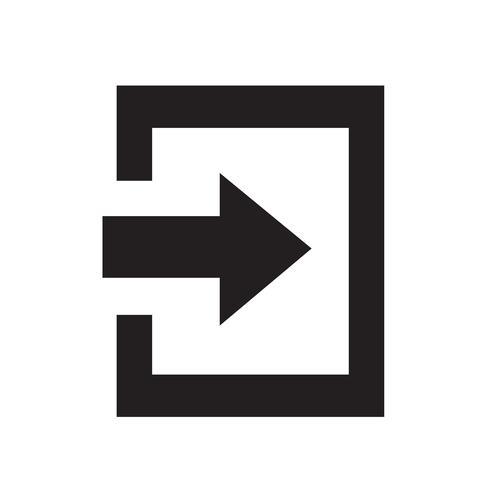 Icona del segno di accesso