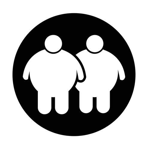 Icono de gente gorda