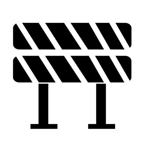 Weg barrière pictogram