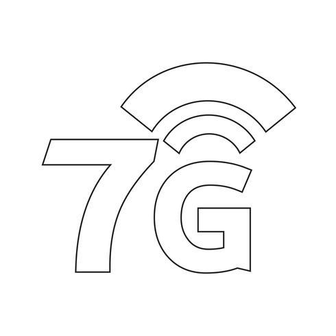 7G Wireless Wifi-pictogram