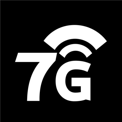 Ícone de Wi-Fi 7G sem fio