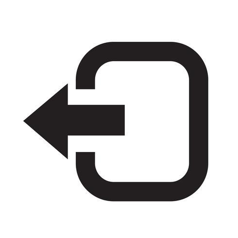 Icono de signo de cierre de sesión