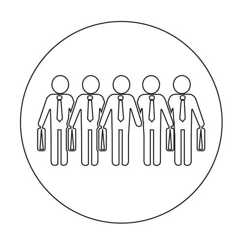 Icona della gente dell'uomo d'affari