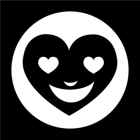 Icône Emotion Visage Coeur
