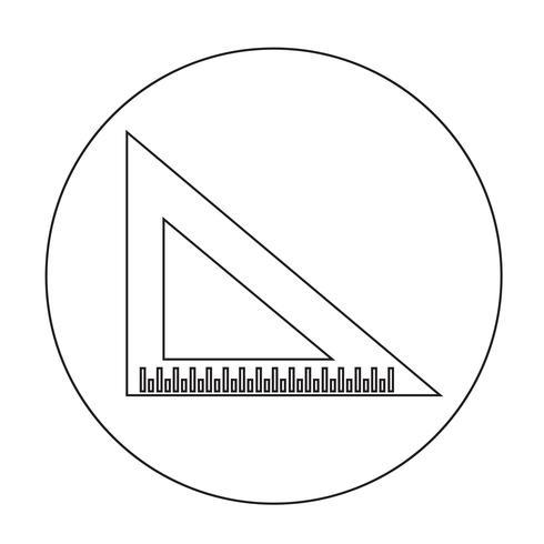 icône de la règle triangle