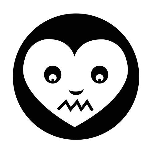 Icona dell'emozione del cuore