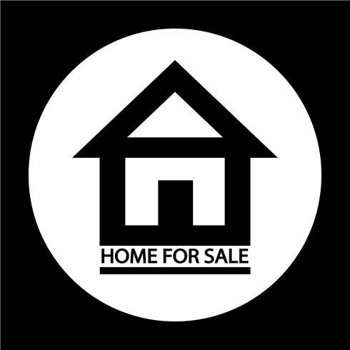Icône de maison à vendre