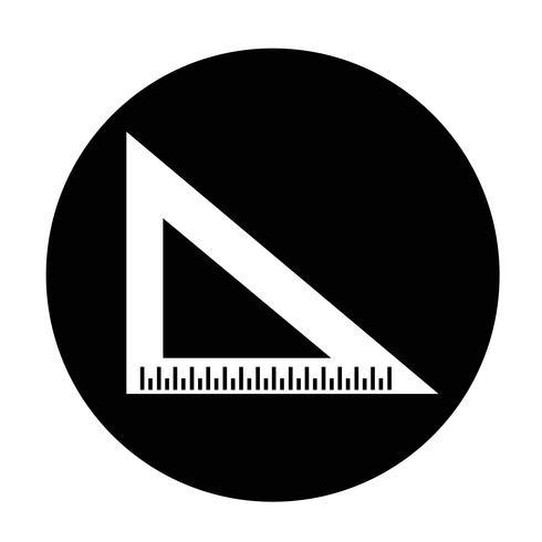 ícone de régua de triângulo