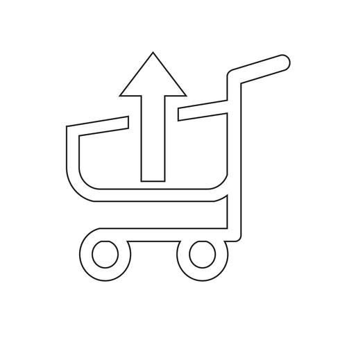 icône de chariot de caddie