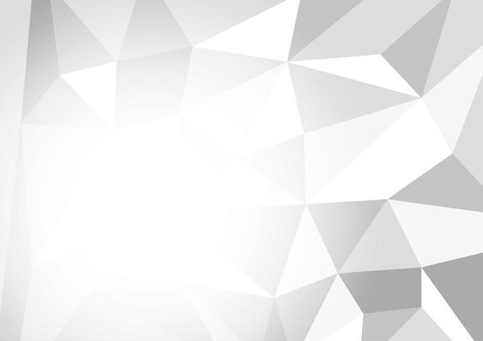 Fondo abstracto de polígono de color gris y blanco, ilustración vectorial