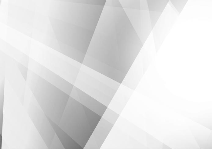 Fondo geometrico di colore grigio e bianco astratto, illustrazione di vettore