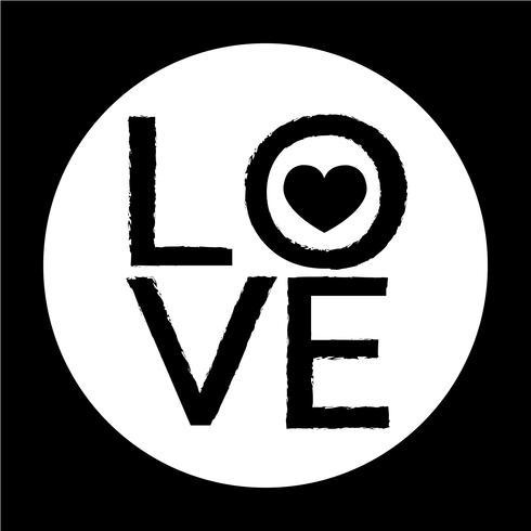 Icono de la tarjeta del día de san valentín vector