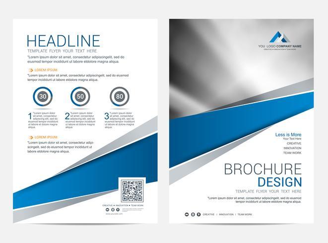 Plantilla de diseño de folleto, fondo de diseño de portada