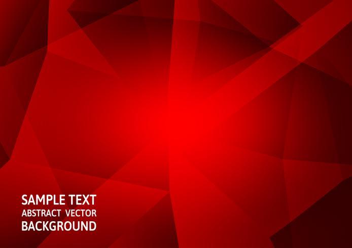Progettazione moderna di tecnologia astratta del fondo del poligono di colore rosso con lo spazio della copia, illustrazione di vettore