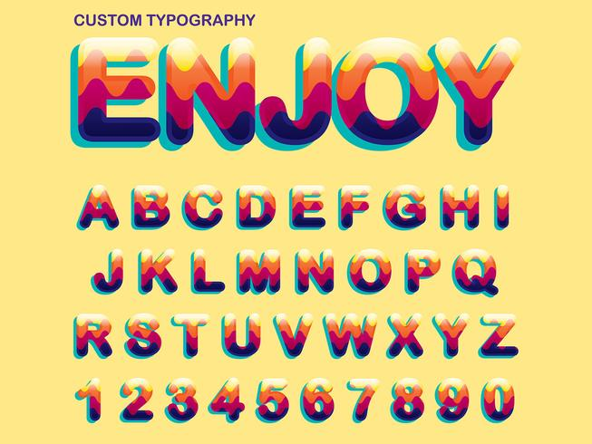 Colorful Typography Design vector
