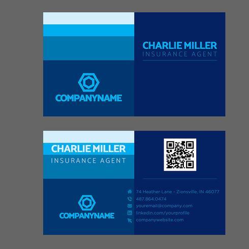 Biglietto da visita blu colorato