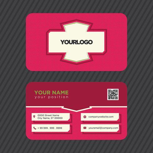 Biglietto da visita rosa colorato