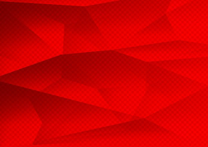 Polygone de couleur rouge abstrait technologie moderne, illustration vectorielle