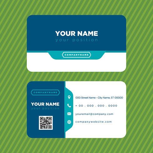 Carte de visite bleue colorée vecteur
