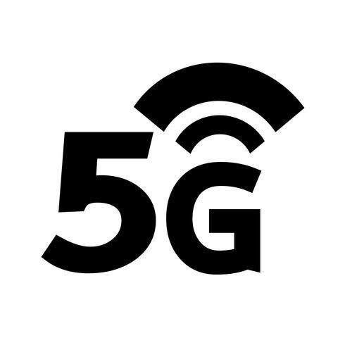 Ícone sem fio 5G Wi-fi vetor