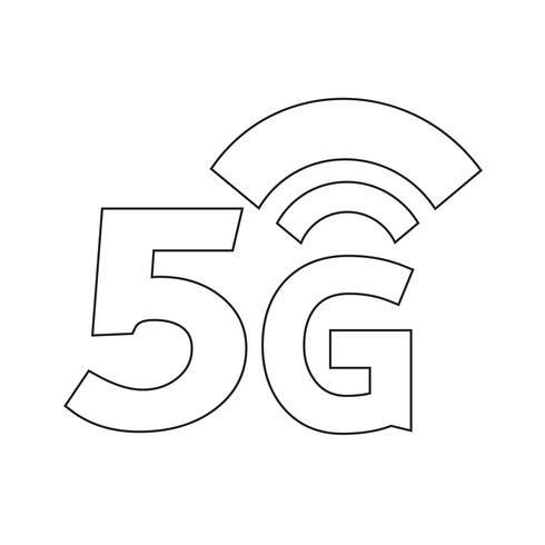 Icône 5G Wifi sans fil