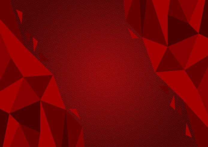 Red color polygon abstract background modern design, Vector illustration with copy space