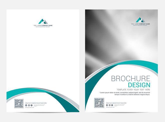 Modello di layout di brochure, copertina di sfondo