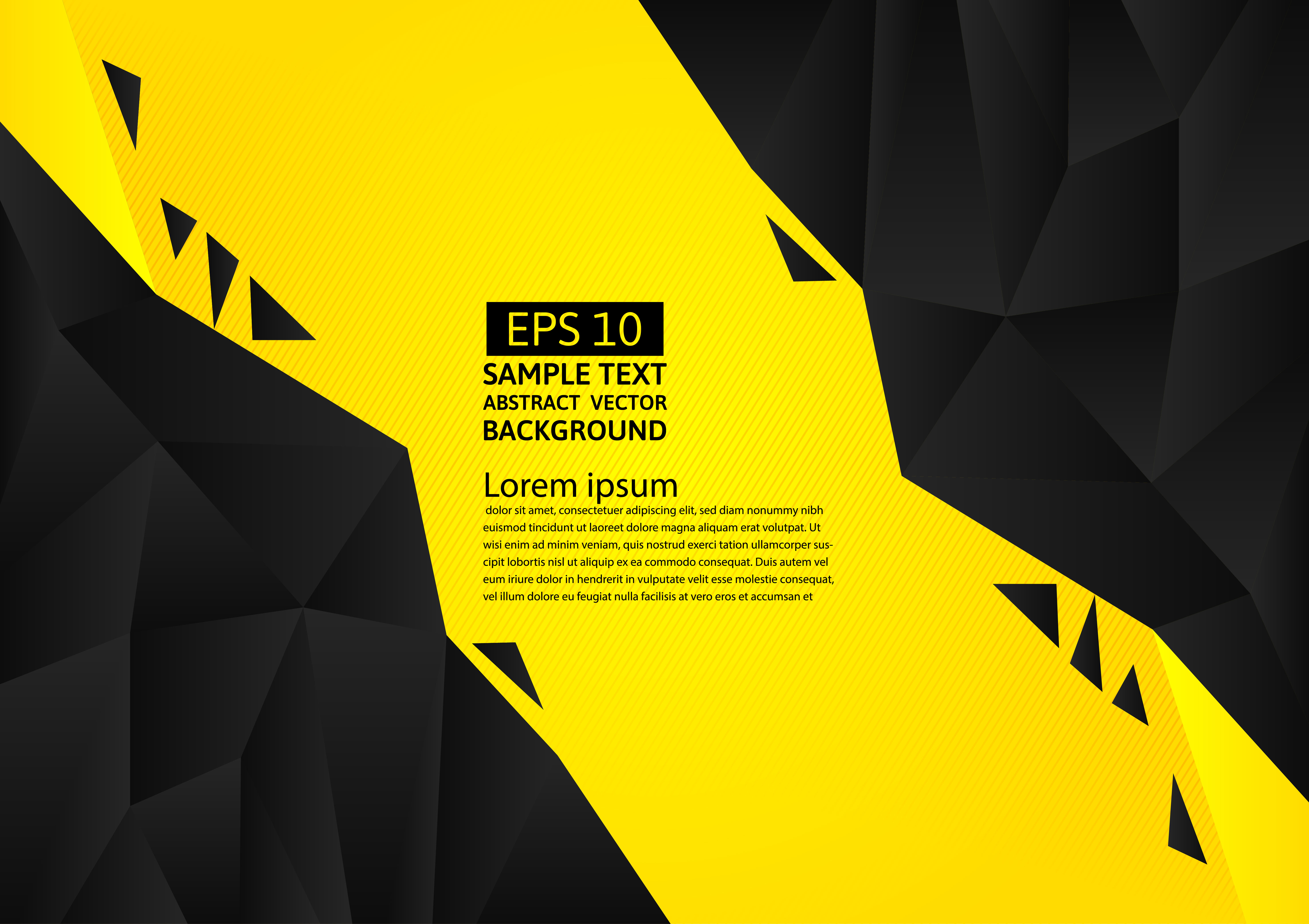 Black And Yellow Color Polygon Abstract Background Modern Design Vector Illustration With Copy Space Download Free Vectors Clipart Graphics Vector Art
