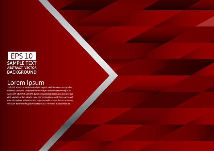 Abstrait géométrique de couleur rouge, illustration vectorielle avec espace de copie