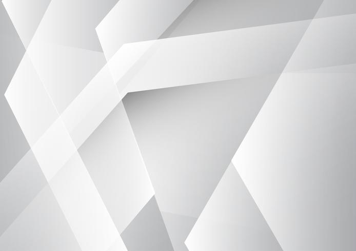 Vector gray and white color geometric abstract background