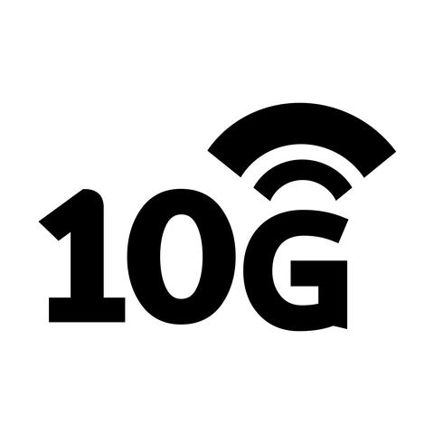Ícono de wifi inalámbrico de 10G