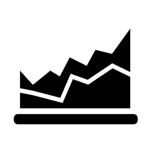 Enkel diagram grafik ikon vektor illustration