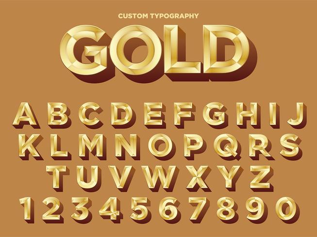 gyllene typografi design