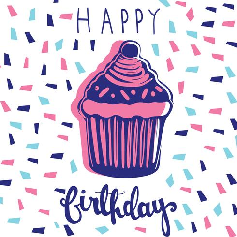 glaçage doux muffin kawaii style illustration vectorielle vecteur