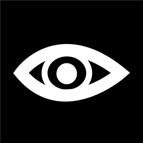 Ilustración de vector de icono de ojo