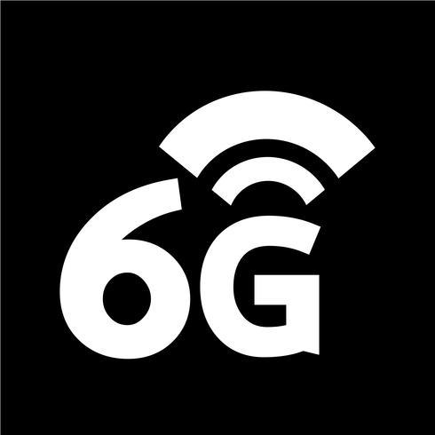 Ícone sem fio 6G Wi-fi vetor