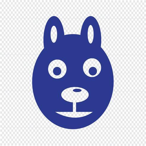 icône de chien Illustration vectorielle