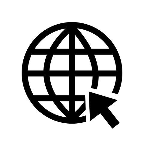 Go to website Internet icon vector illustration