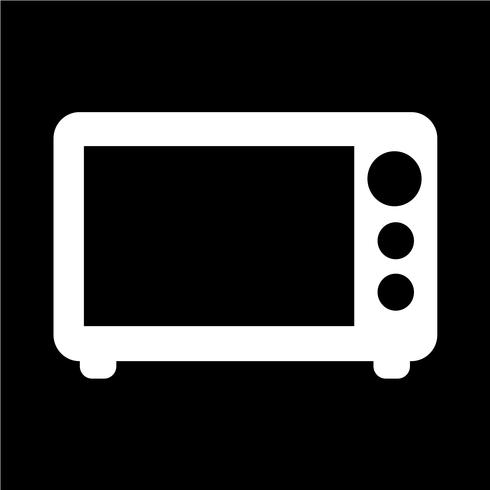 Illustrazione di vettore dell'icona di microonde