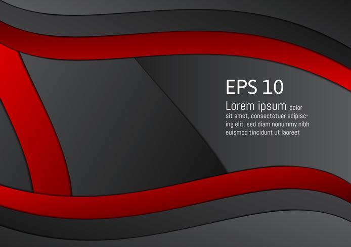 Fondo geométrico rojo y negro abstracto con el espacio de la copia, ejemplo eps10 del vector