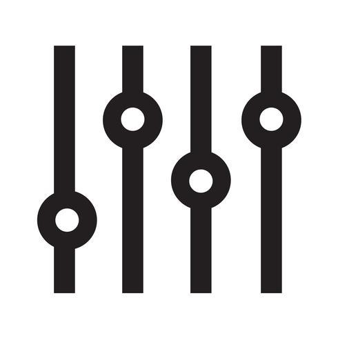 Illustrazione di vettore dell'icona di musica di adeguamento