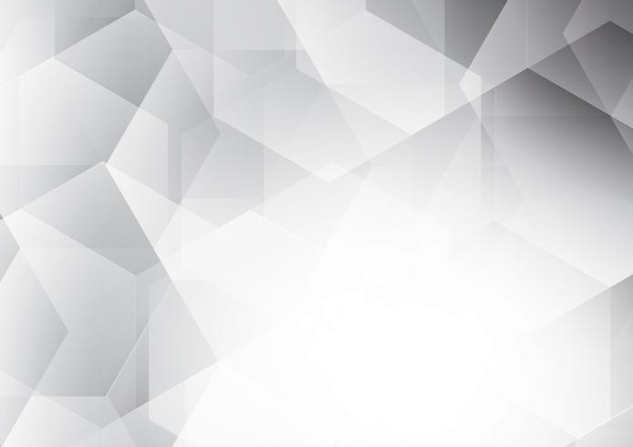 Witte en grijze kleur moderne futuristische veelhoek abstracte vector achtergrond, met kopie ruimte voor uw bedrijf