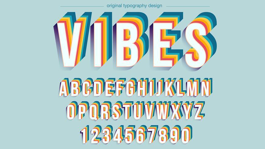 Vintage Design coloré de typographie