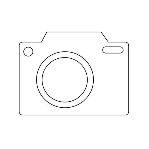 Illustrazione di vettore icona della macchina fotografica