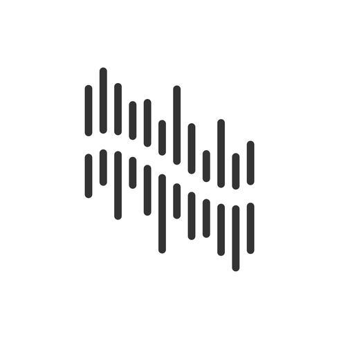 Ljud av vågor Line Logo Mall Illustration Design. Vektor EPS 10.