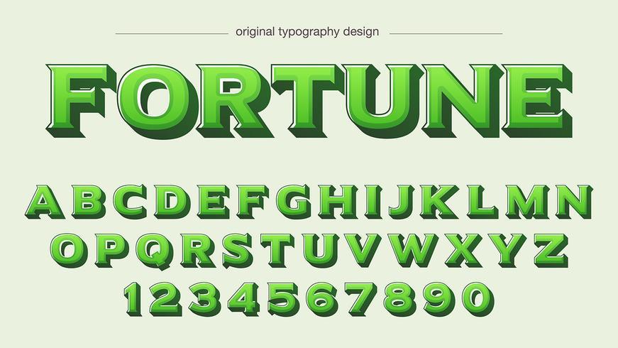 Grön Bold Typografi Design