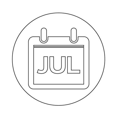 Icono de signo de calendario