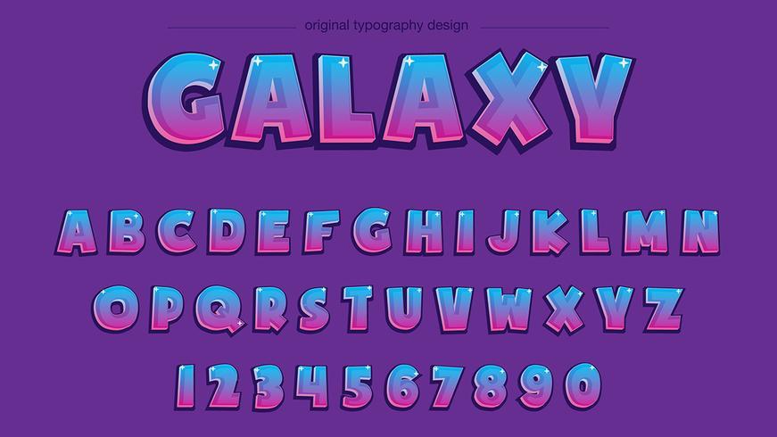Cartoon paarse typografie