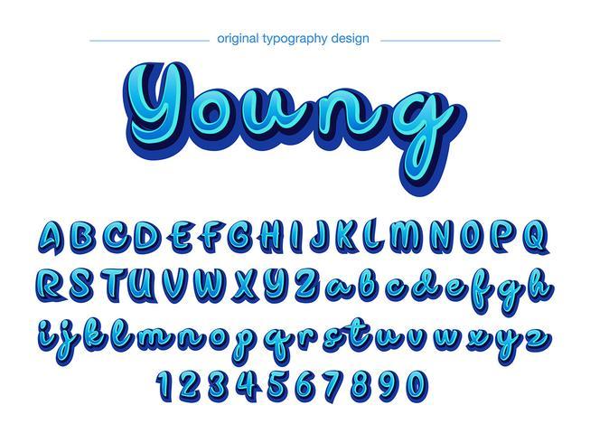 blå typografi design
