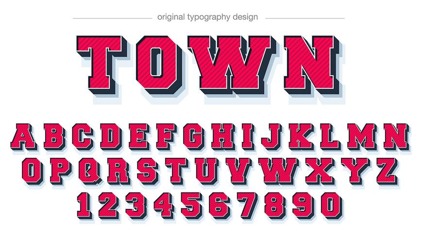 Bold Red Slab Typography